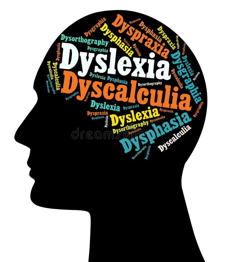 Dislexia, inhabilidades de aprendizaje ilustración del vector
