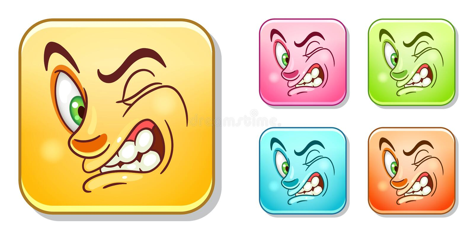 Dislike Emoticons collection stock photos