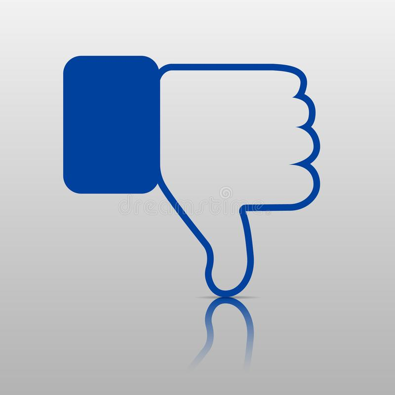Dislike Icon. Thumb Down, Hand or Finger Illustration .Symbol of Negative. Rate Choice for Social Media, Web and Apps royalty free illustration