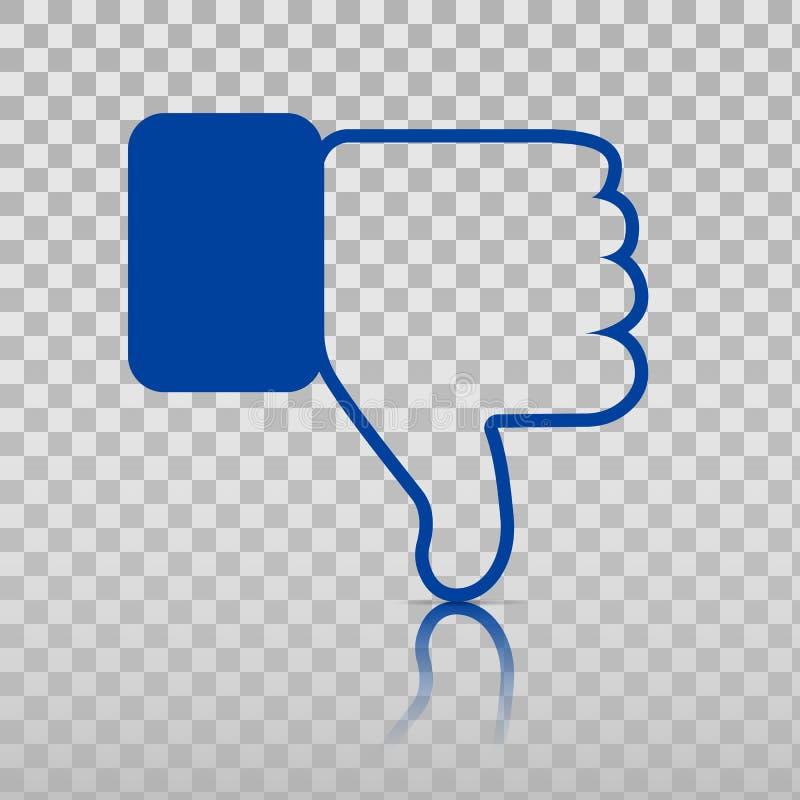 Dislike Icon. Thumb Down, Hand or Finger Illustration or Finger Illustration on Transparent Background. Symbol of royalty free illustration