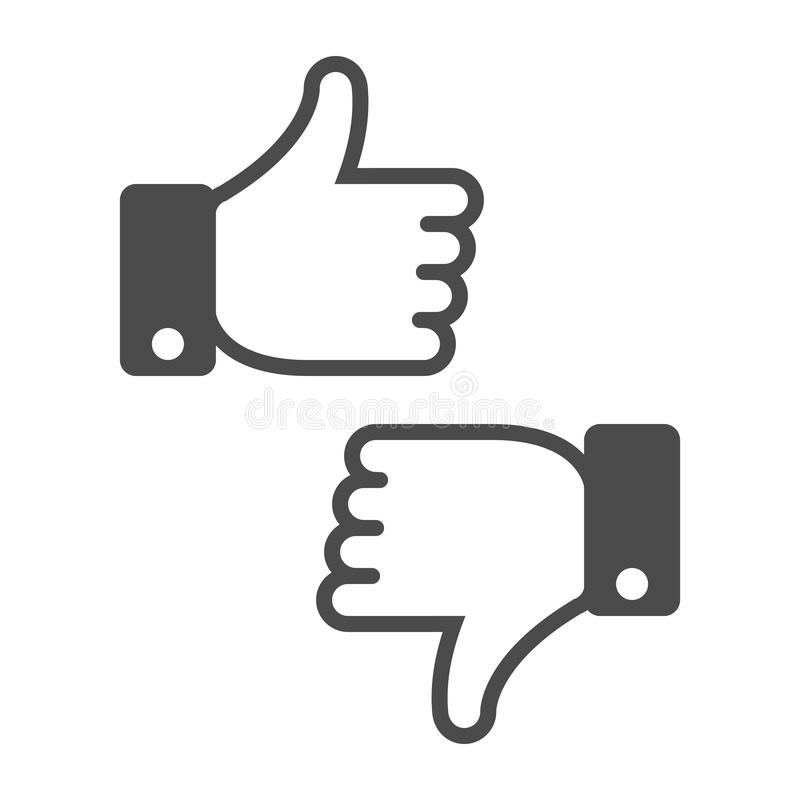 Dislike like icon. vector illustration