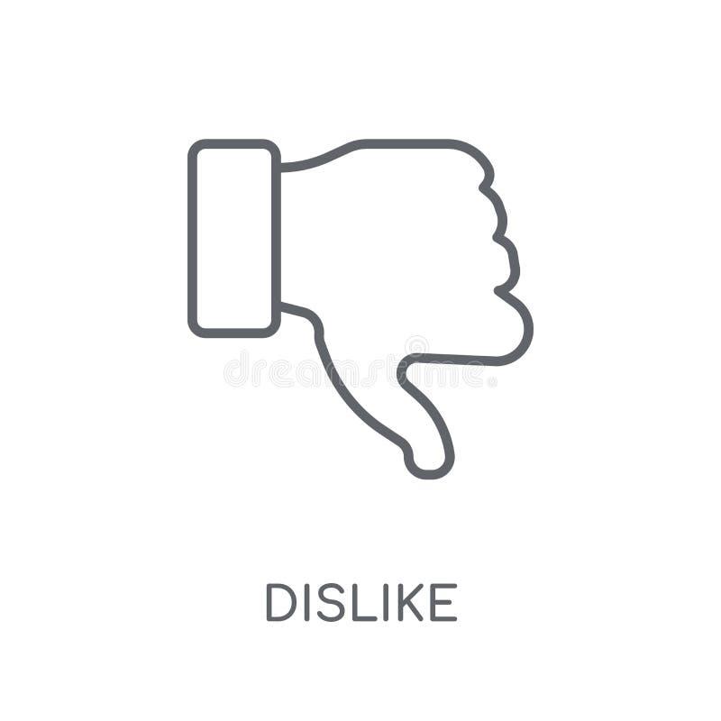 Dislike linear icon. Modern outline Dislike logo concept on whit vector illustration