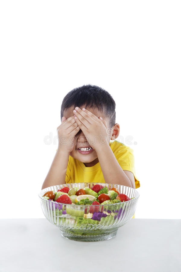 Dislike salad royalty free stock image
