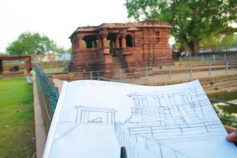 Disline Sketch of Shiva India Tourism, Indien arkivfoton