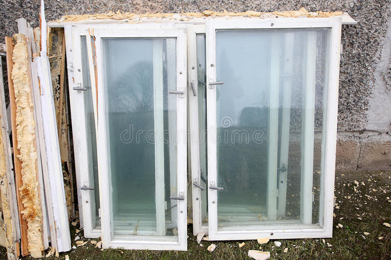 Dismantled The Old Wooden Window Frames Stock Image - Image of ...