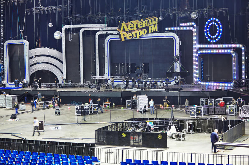 Download Dismantling Stage And Equipment After Concert Editorial Image - Image: 28730325