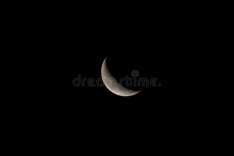 Disminución Crescent Moon con el espacio para el texto o la copia foto de archivo