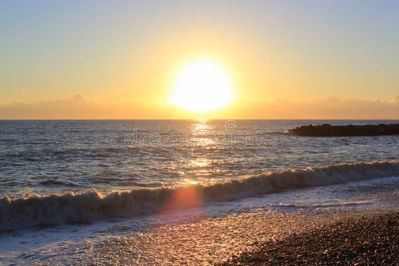 Disminución del mar en Sochi imagen de archivo libre de regalías