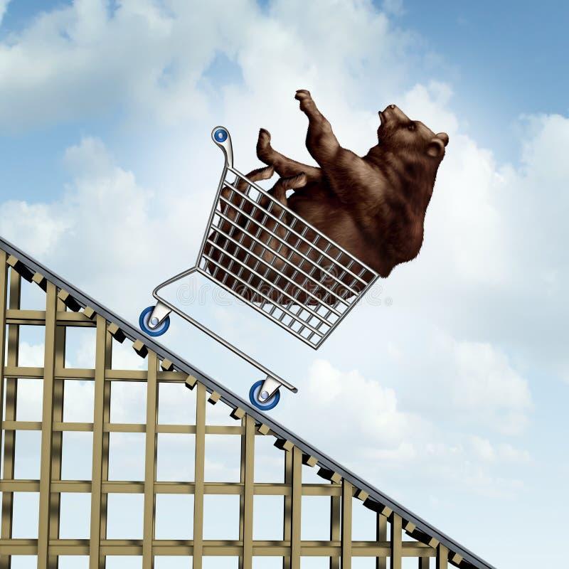 Disminución del mercado de acción stock de ilustración