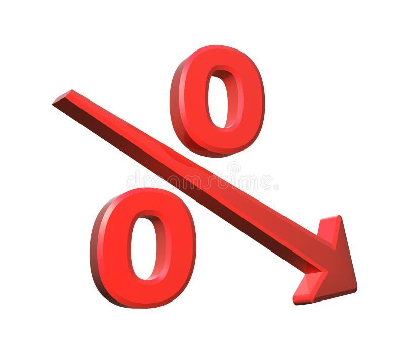 Disminución del por ciento de Repid stock de ilustración