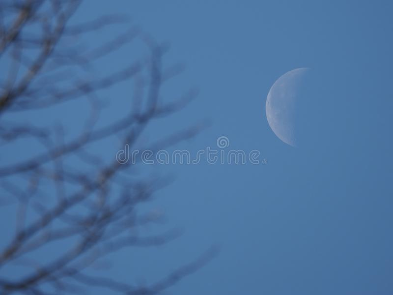 Disminuci?n Crescent Moon imágenes de archivo libres de regalías