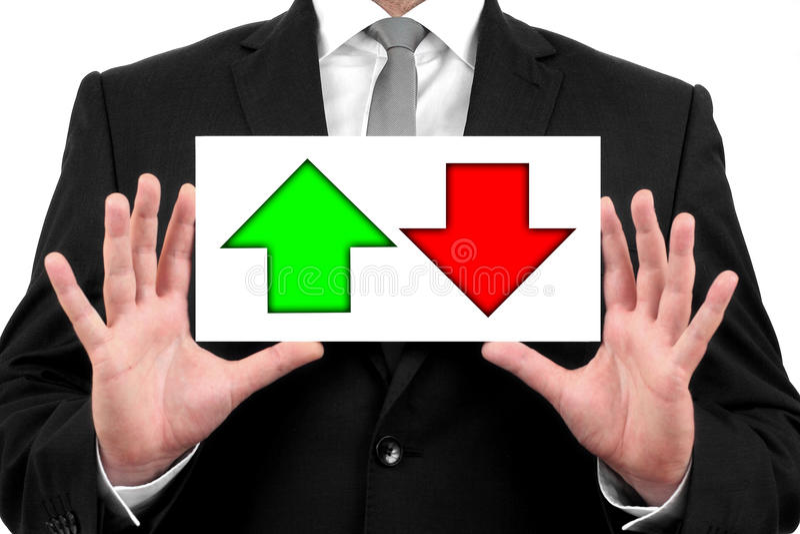 Disminuciones y aumentos en mercado de acción imágenes de archivo libres de regalías