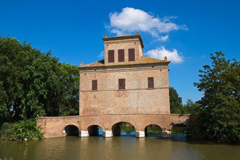 Disminuya la torre. Mesola. Emilia-Romagna. Italia. foto de archivo libre de regalías
