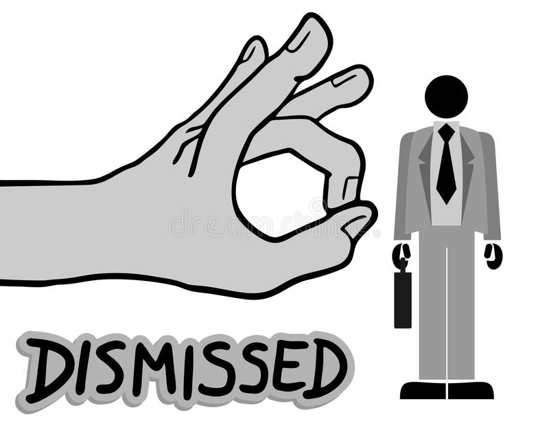 Dismissed job. Creative design of dismissed job royalty free illustration