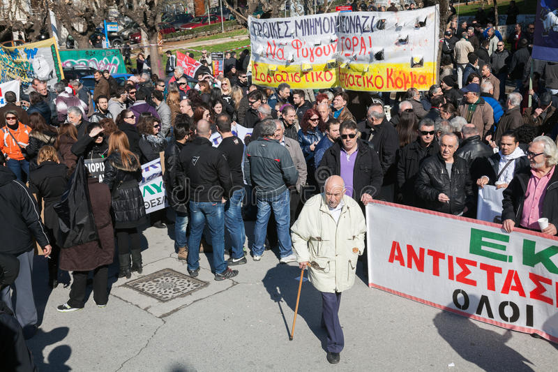 Dismissed Public Servants Protest Editorial Image