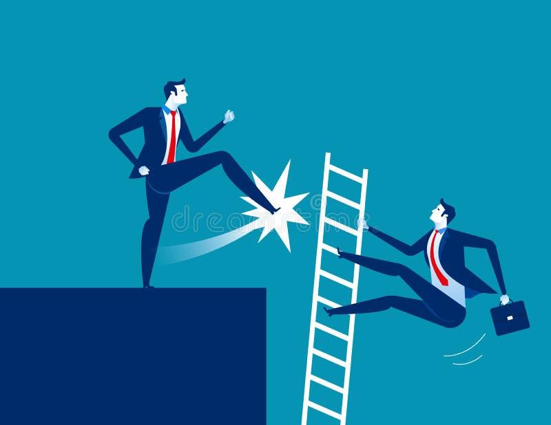 Dismission Scossa dell'uomo d'affari assente Illus di vettore di affari di concetto illustrazione di stock
