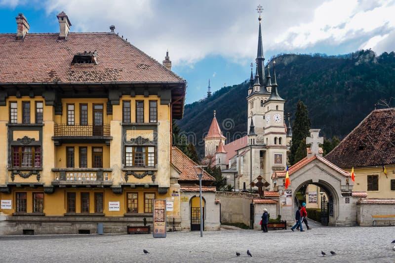 Disney aiment le château en Brasov, Roumanie photographie stock libre de droits