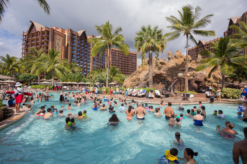 Disney Aulani Resort på Oahu Hawaii royaltyfri fotografi