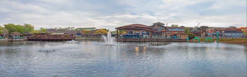 Disney balza panorama, Florida immagini stock