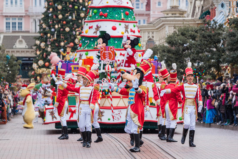 Disney bożych narodzeń parada zdjęcie stock