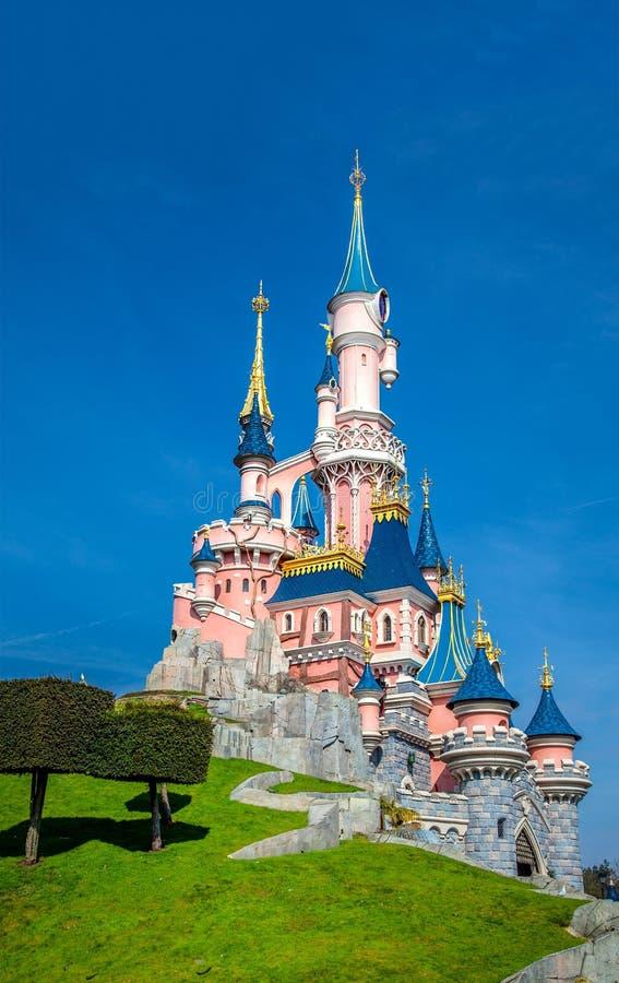 Disney Castle, Disneyland Paris, Paris, France, 25th March 2013 stock photography