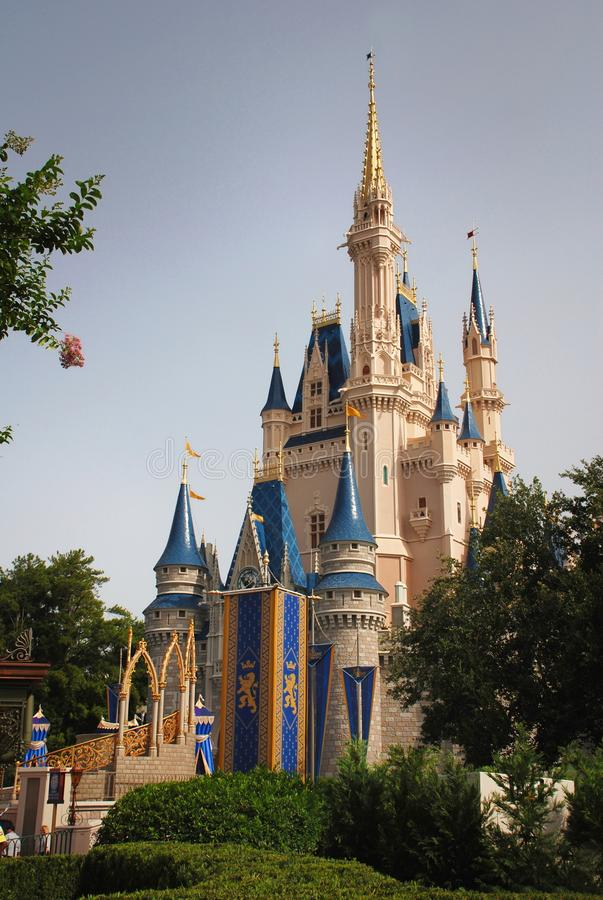 Disney Castle in magic kingdom royalty free stock photos