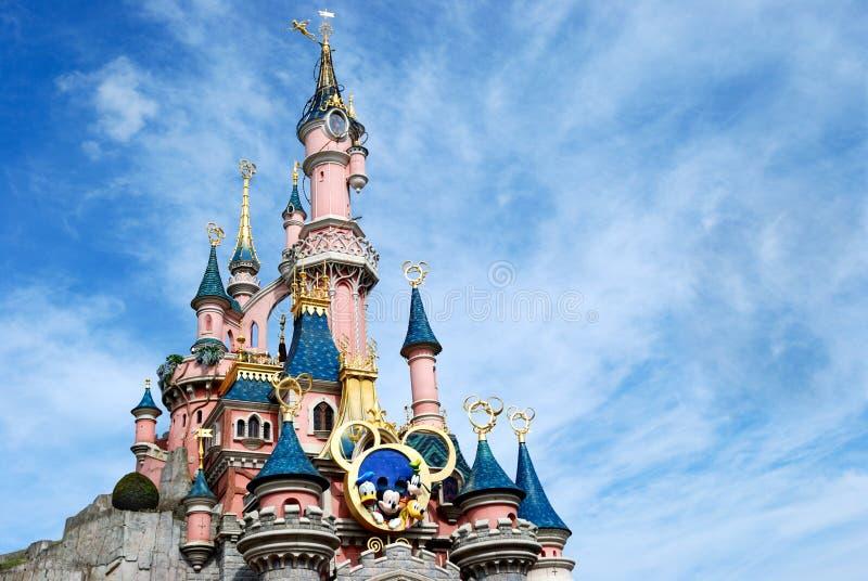 Disney castle paris stock photos