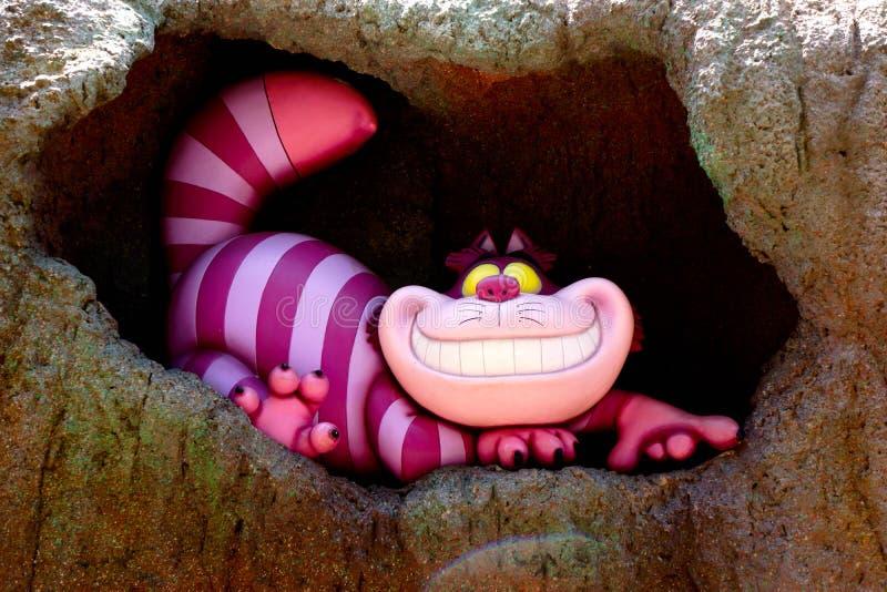 Disney Cheshire kota ono Uśmiecha się szeroko obrazy stock