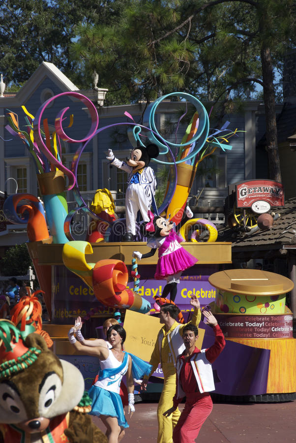 Disney défilent photo stock