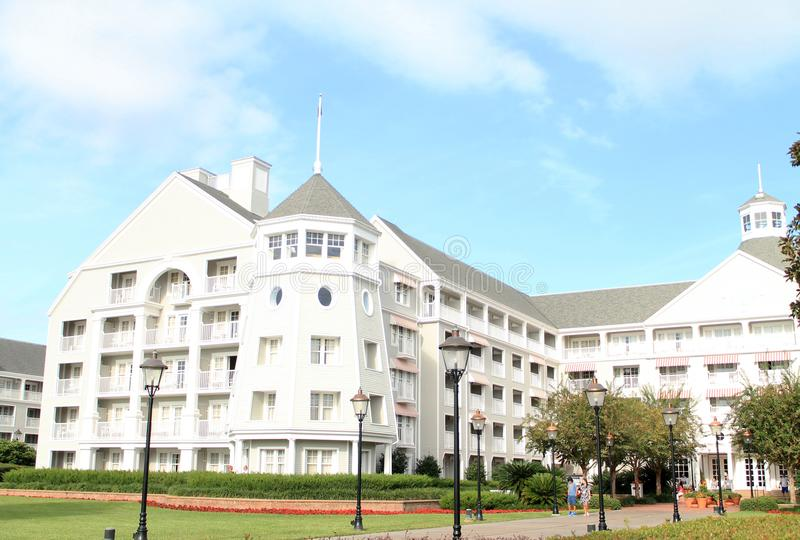 Disney-de bouw van het de Toevluchthotel van de Jachtclub in Florida royalty-vrije stock fotografie