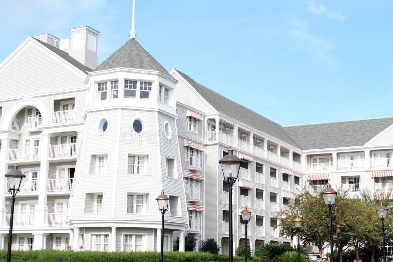Disney-de bouw van het de Toevluchthotel van de Jachtclub in Florida stock fotografie