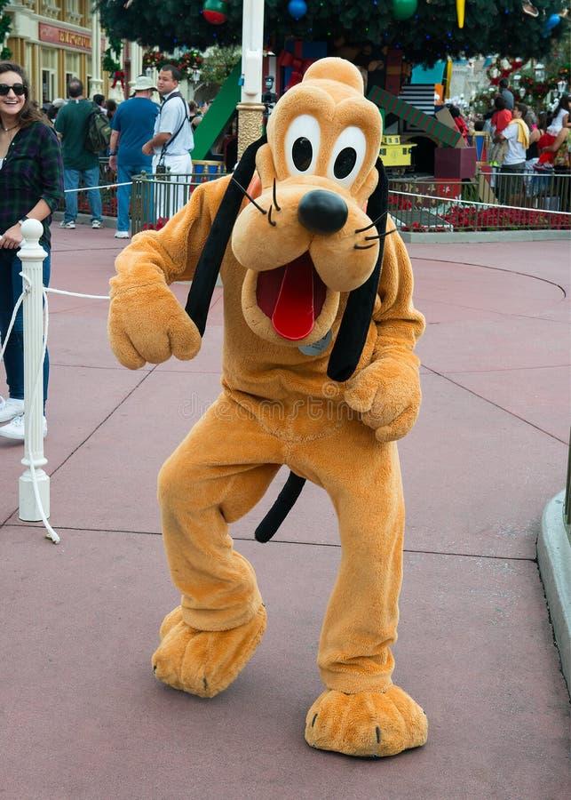 Disney-de Hondkarakter van de Wereldpluto stock afbeelding