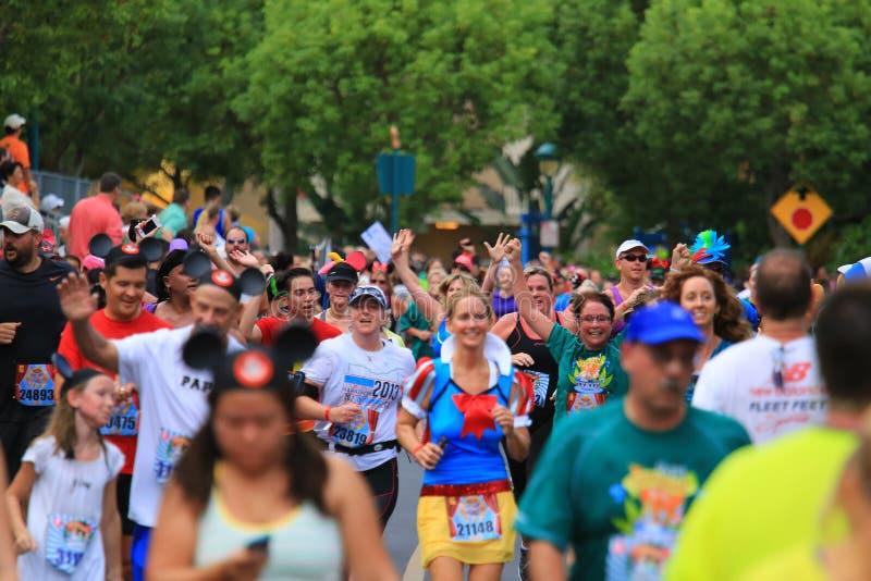 Disney die race in werking stellen stock afbeeldingen