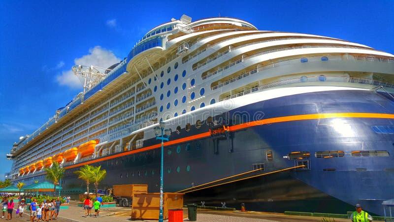 Disney Dream at Castaway Cay. Island in the Bahamas stock photo