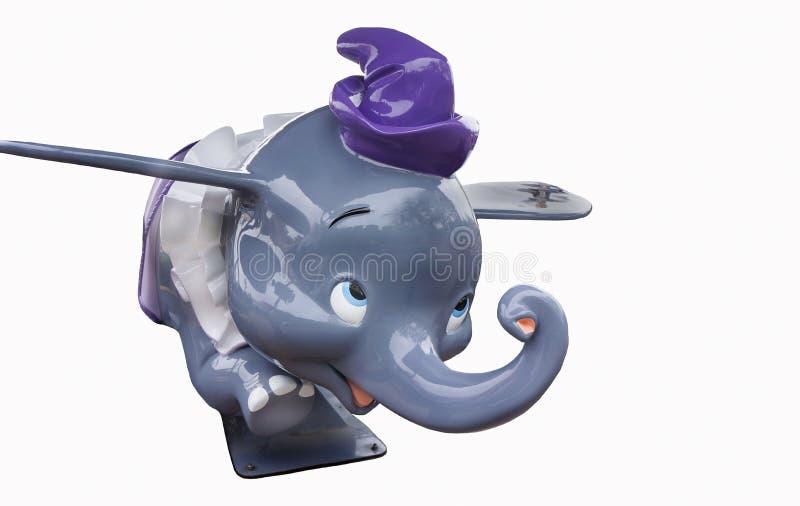 Disney Dumbo aisló en el fondo blanco imagenes de archivo