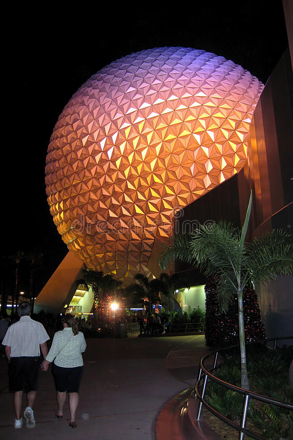 Disney Epcot Globe royalty free stock photography