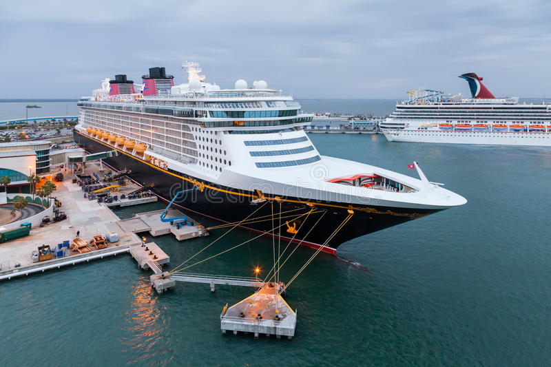 Disney fantasy editorial stock photo image of american 52657698 - Port canaveral cruise lines ...