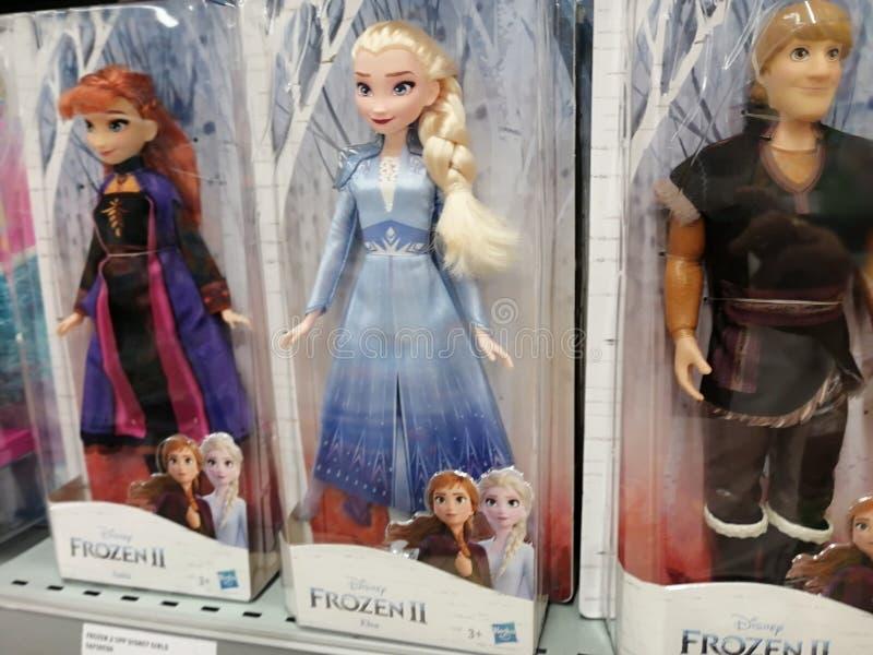 Disney Frozen Elsa and Anna Dolls royalty free stock photo
