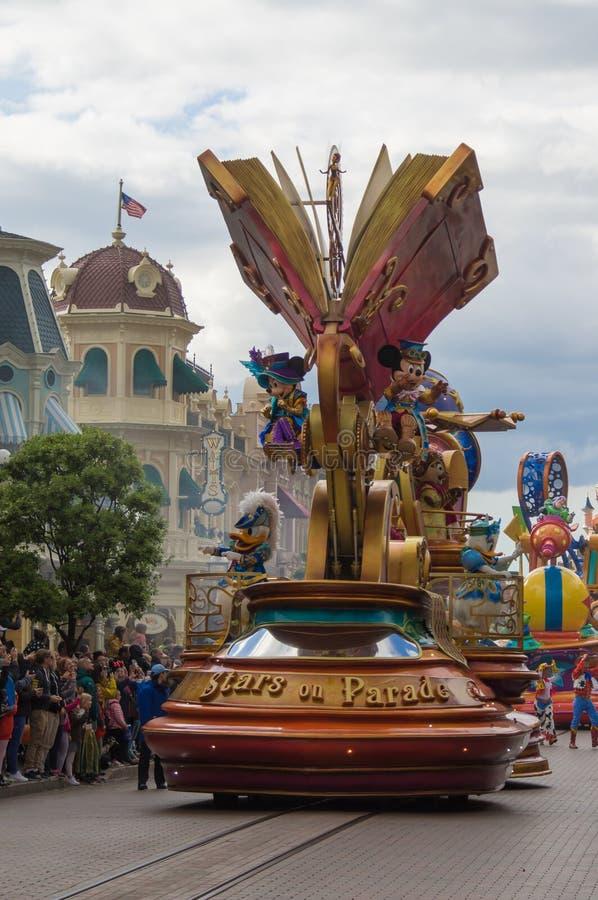 Disney gwiazdy na paradzie obraz royalty free