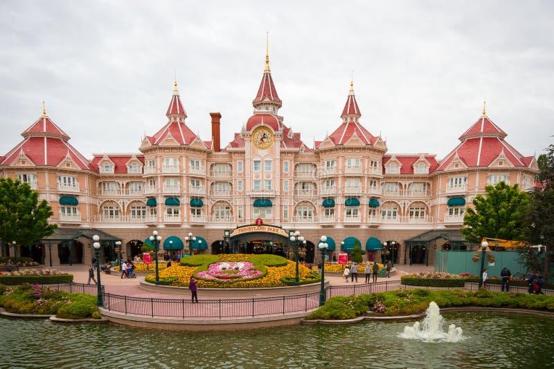 Disney-Hotel in Disneyland Parijs royalty-vrije stock afbeelding