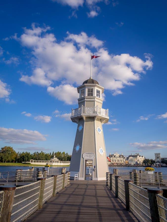 Disney jachtu klubu latarnia morska fotografia royalty free