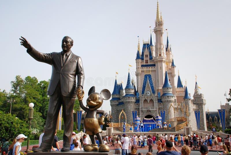 Disney-Kasteel in magisch koninkrijk royalty-vrije stock fotografie