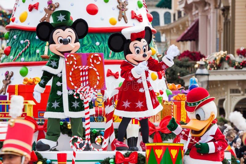 Disney-Kerstmisparade stock afbeeldingen