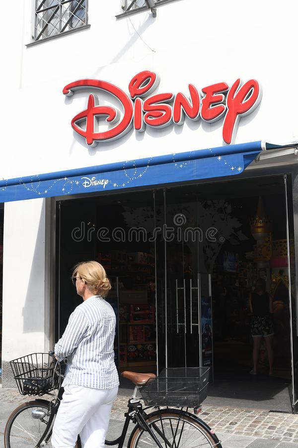 Disney lager i Köpenhamnen Denmqrk arkivfoton