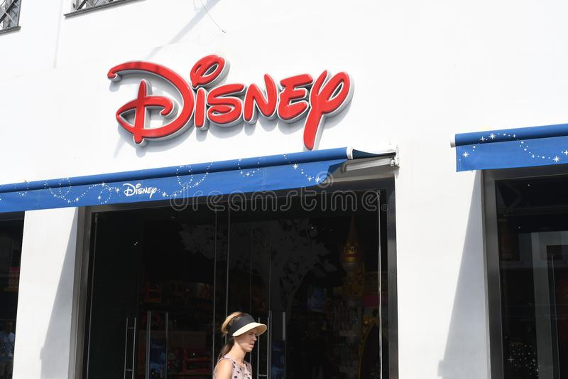 Disney lager i Köpenhamnen Denmqrk royaltyfria foton