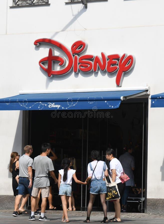 Disney lager i Köpenhamnen Denmqrk fotografering för bildbyråer