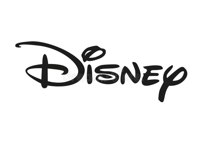 Disney logo royaltyfri illustrationer