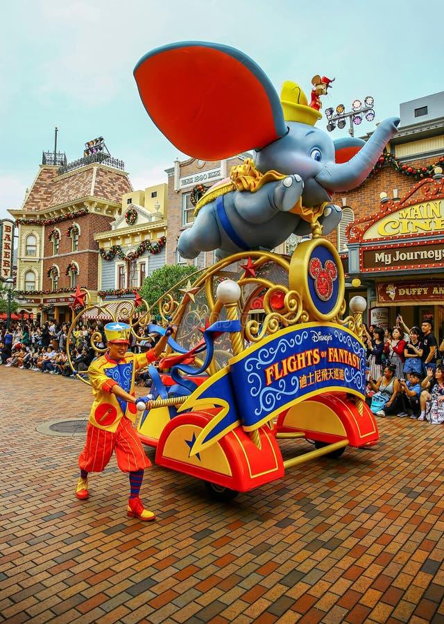 Disney loty fantazja paradują przy Disneyland, Hong kong zdjęcia royalty free