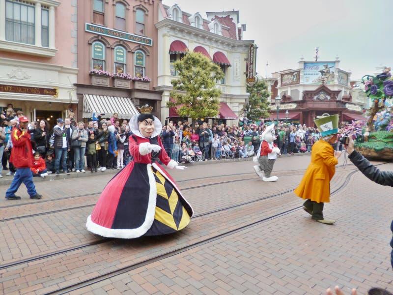 Disney magi ståtar på - Alices affärsföretag i underland arkivbilder