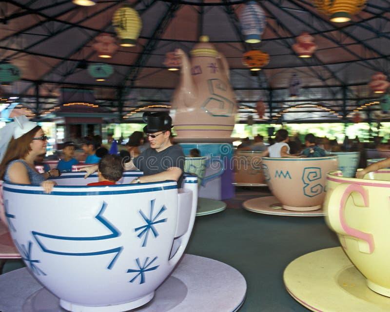 Disney Magic Kingdom Mad Tea Party ride royalty free stock photos
